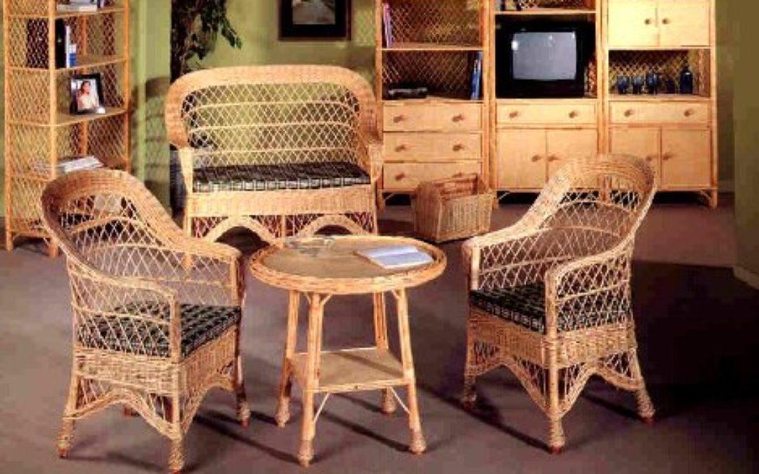 Muebles de mimbre