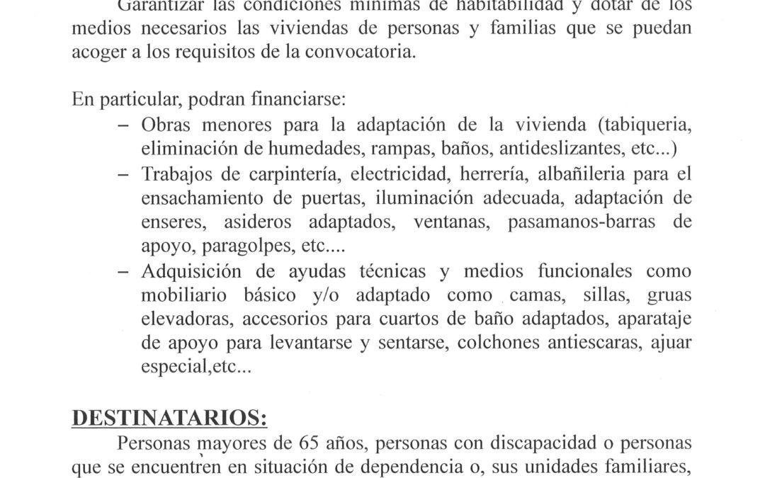 PROGRAMA DE ADECUACION FUNCIONAL  DEL HOGAR 2016 1