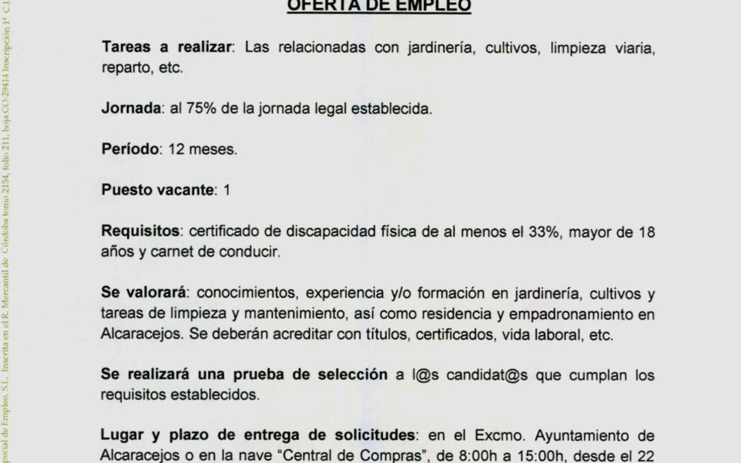 Oferta Centro Especial de Empleo
