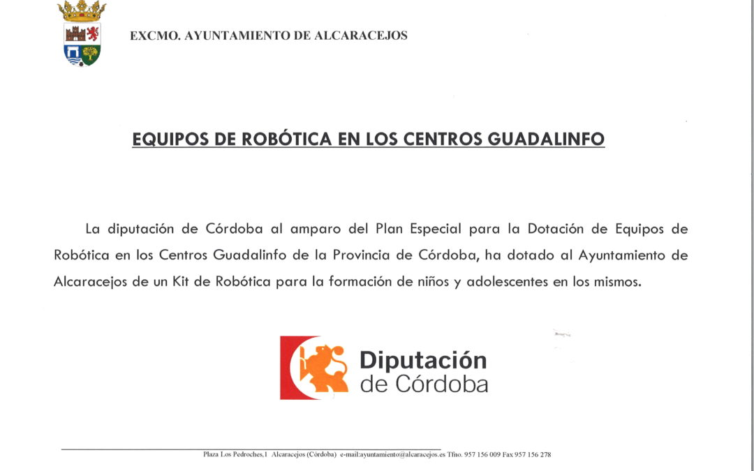 EQUIPOS DE ROBÓTICA EN LOS CENTROS GUADALINFO 1