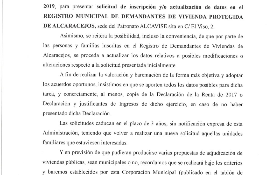 REGISTRO MUNICIPAL DE DEMANDANTES DE VIVIENDA PROTEGIDA 1