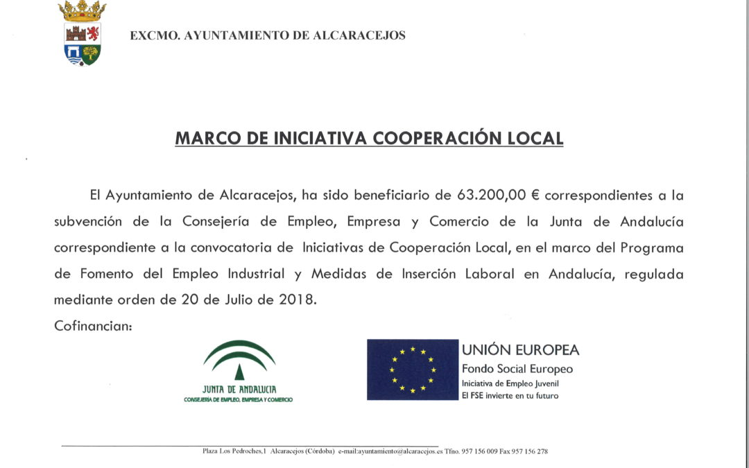 MARCO DE INICIATIVA COOPERACIÓN LOCAL 1