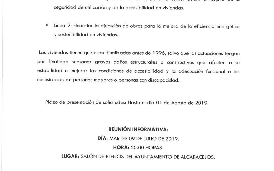 CONVOCATORIA DE SUBVENCIONES PARA REHABILITACIÓN DE VIVIENDAS 1
