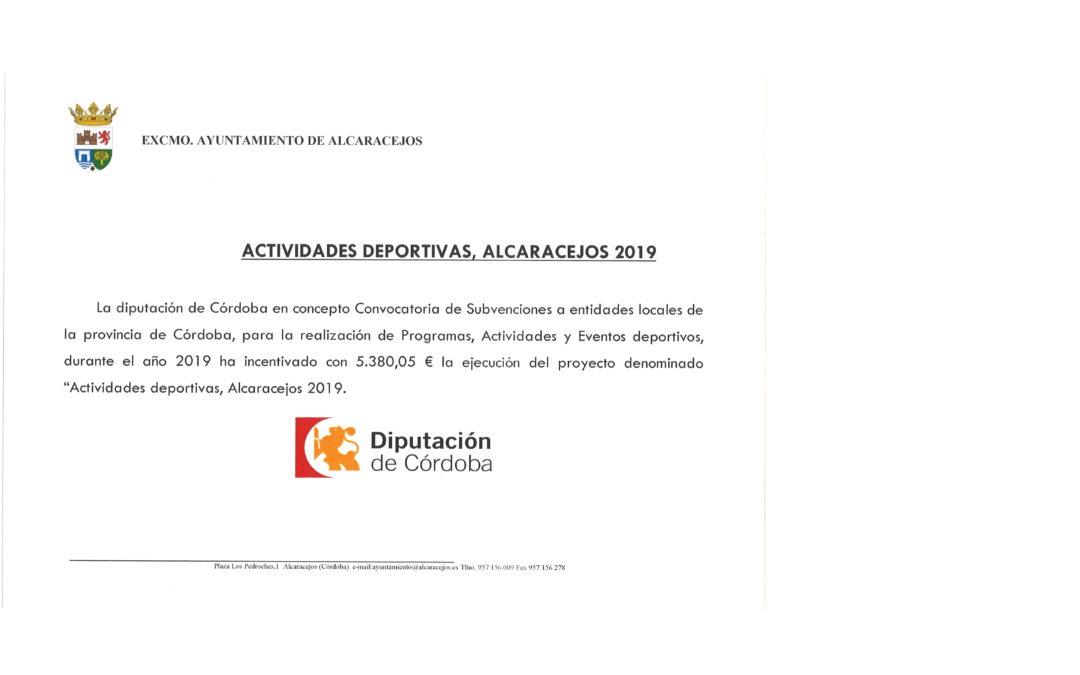SUBVENCIÓN EN MATERIA DE DEPORTES 1