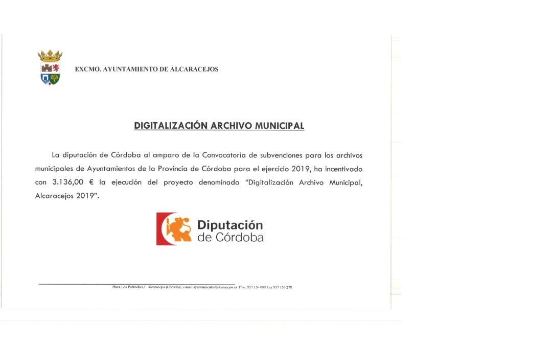 SUBVENCIÓN DIGITALIZACIÓN ARCHIVO MUNICIPAL 1