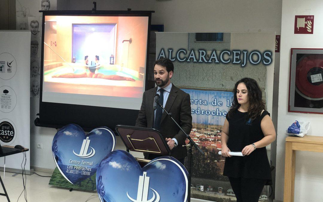 José Luis Cabrera, alcalde de Alcaracejos, dando la bienvenida