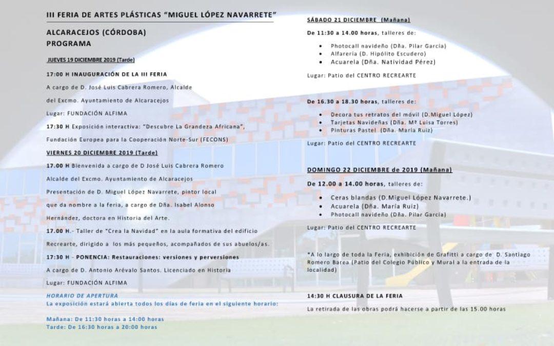 Programa III Feria Artes Plásticas 01