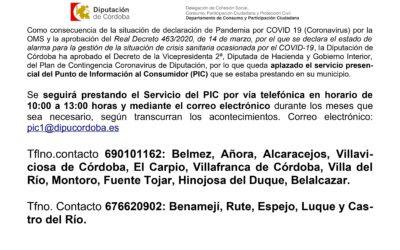 Información de interés: Servicio del Punto de Información al Consumidor (PIC)